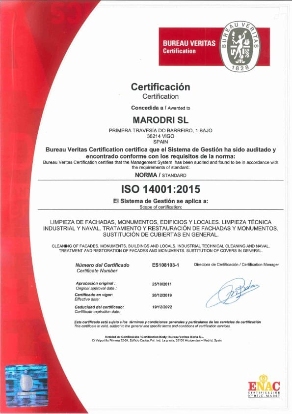 ISO 14001 hasta 19 12 22 001 Certificaciones